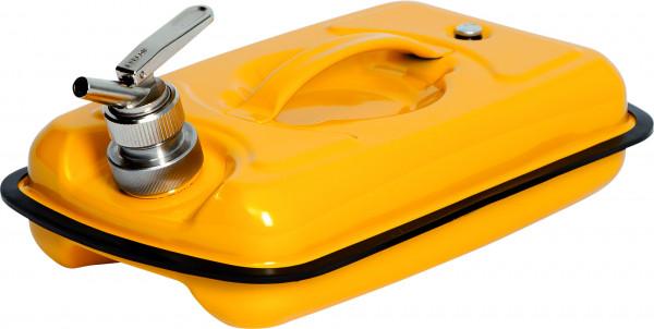 Sicherheitskanister mit Feindosierhahn Stahl lackiert 5 Liter, Stahlblech verzinkt und pulverbeschichtet