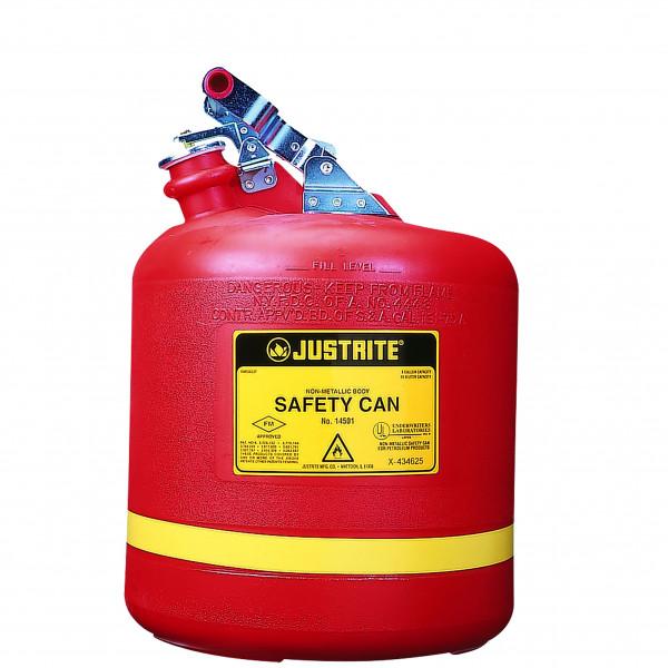 Sicherheitsbehälter Polyethylen Rot, Inhalt: 19 Liter, Polyethylen