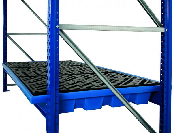 Regalwanne PE mit PE-Gitterrost 2680x1300x215, Polyethylen