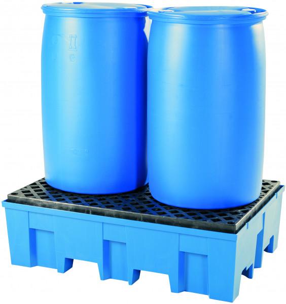 Auffangwanne PE-HD mit PE-Gitterrost 865x1245x375, Polyethylen (high density)
