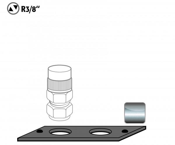 Durchführung Vorbereitung Ermeto-Verschraubung für Modell(e): G30, G90 mit Breite 600/1200 mm, Stahlblech pulverbeschichtet glatt