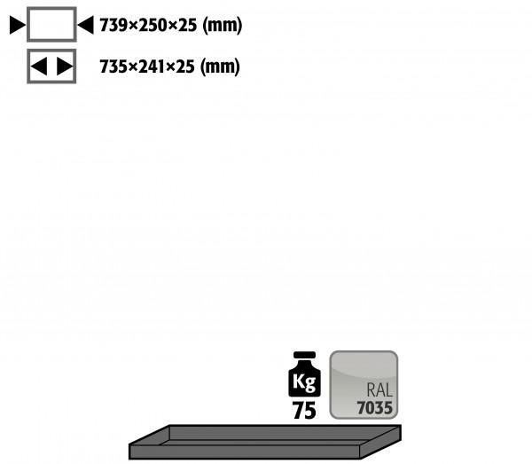 Fachboden Standard für Modell(e): G90 mit Breite 900 mm, Stahlblech pulverbeschichtet glatt