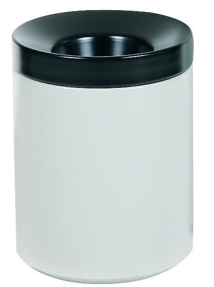 Selbstlöschender Papierkorb Stahlblech, grau, 30 L, Stahlblech