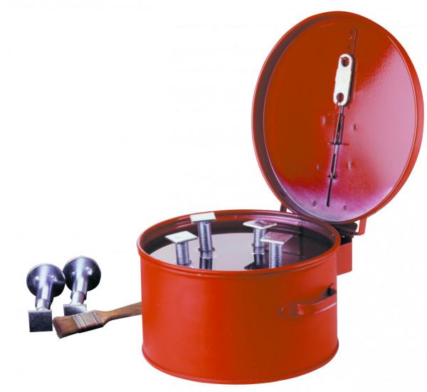 Wasch-und Tauchbehälter, Rot, 8 Liter, Stahlblech verzinkt und pulverbeschichtet