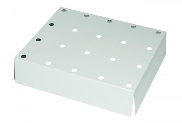 Lochblecheinsatz Standard für Modell(e): Q90, S90 mit Breite 600 mm, Stahlblech pulverbeschichtet glatt
