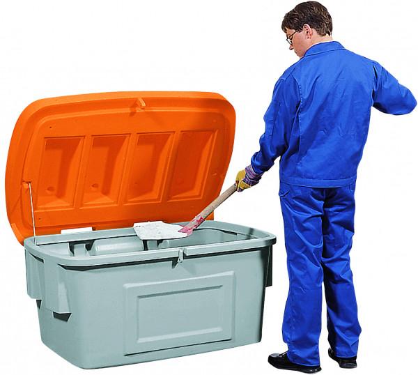 Streugutbehälter PE ohne Entnahmeöffnung orange, 550 L, Polyethylen