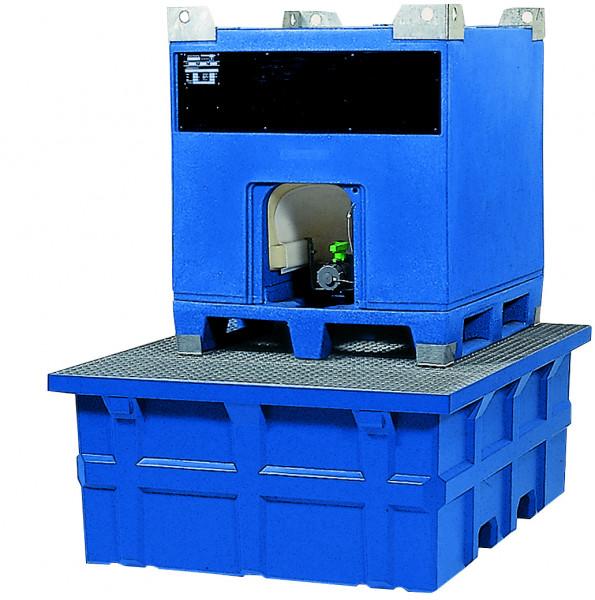 IBC-Station PE-LD mit verzinktem Gitterrost 1760x1410x660, Polyethylen (low density)