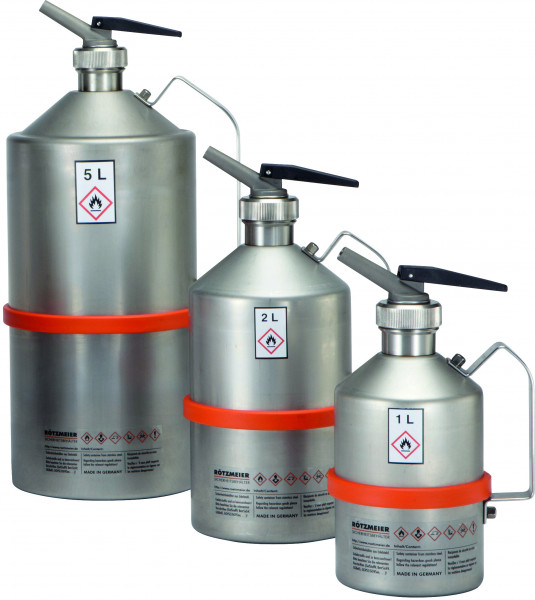 """Dosierkanne Edelstahl (1.4571),Inhalt: 1 Liter (1 ¼""""), Edelstahl 1.4301 poliert"""
