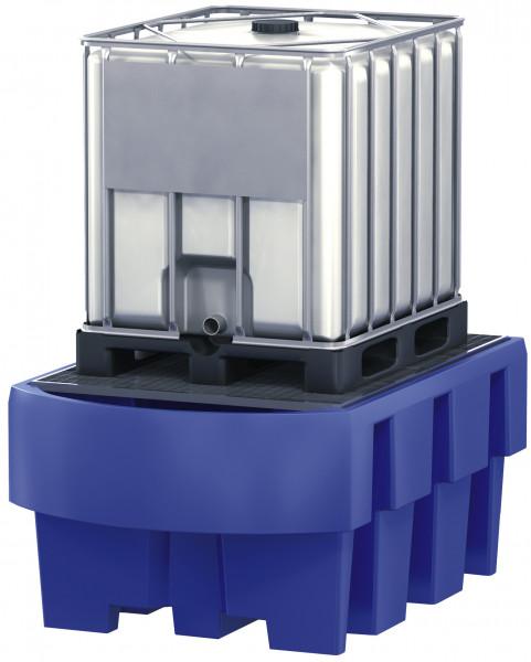 IBC-Station unterfahrbar PE mit verzinktem Gitterrost und Abfüllbereic, Polyethylen