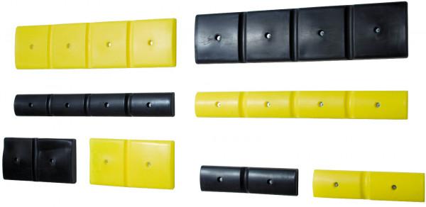 Wand-Schutzprofil 500 schmal PE gelb, Polyethylen