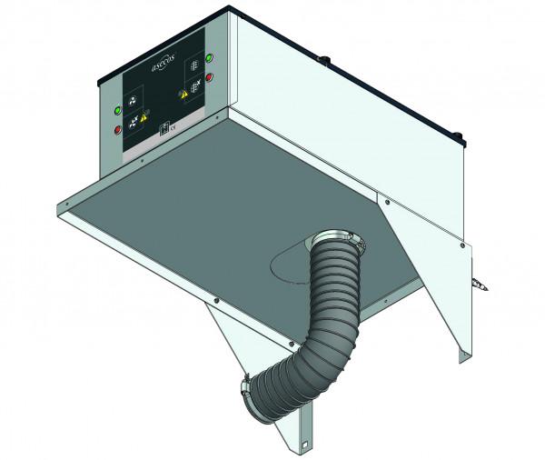 Adapter zur Wandmontage für Umluftfiltermodul Modell UFA.20.30-AUS, Stahlblech pulverbeschichtet glatt