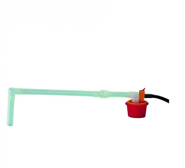 Fusspumpe Standard aus PP mit Auslaufbogen, 30 L, Eintauchtiefe 900 mm, Polypropylen