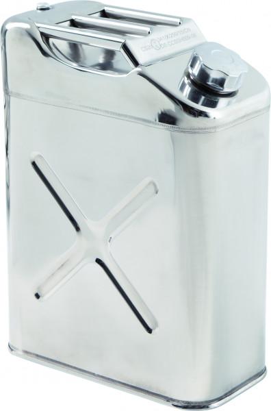Lager-und Transportkanister UN-Zulassung Edelstahl 20 Liter, Edelstahl 1.4301 poliert