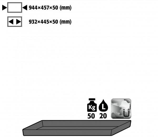 Bodenauffangwanne STAWA-R (Volumen: 20,50 Liter) für Modell(e): E, EP mit Breite 950 mm, Stahlblech verzinkt