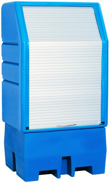 Depot unterfahrbar PE mit verzinktem Gitterrost 950x760x1800, Polyethylen