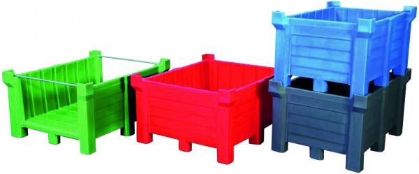 Stapelbehälter PE Blau geschlossen, 400 L, 1000x600x1200, Polyethylen