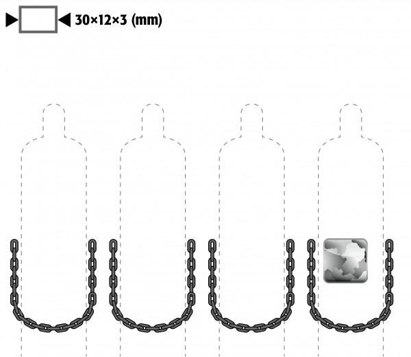 Kettensicherung anstelle Gurtsicherung für Modell(e): G90, G30 mit Breite 1400 mm, Stahl verzinkt