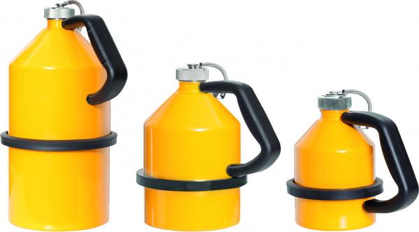 Sicherheits-Lagerkanne, 1 l, Stahl gelb, Stahlblech verzinkt und pulverbeschichtet