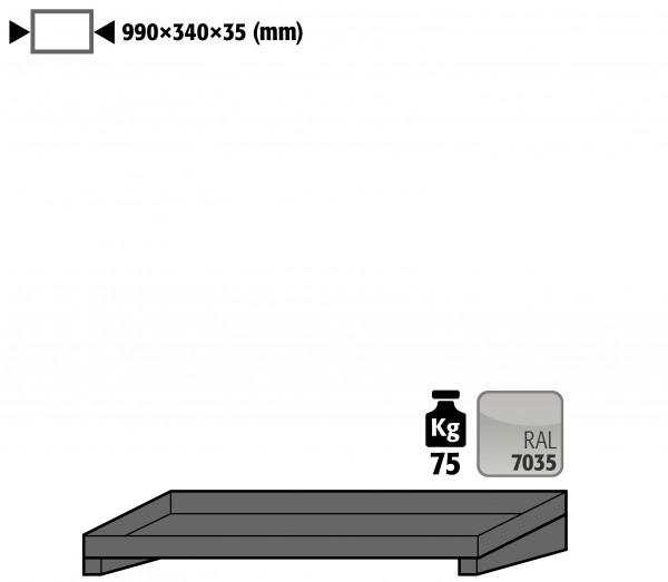 Fachboden Standard für Modell(e): GOD mit Breite 1000 mm, Stahlblech pulverbeschichtet glatt