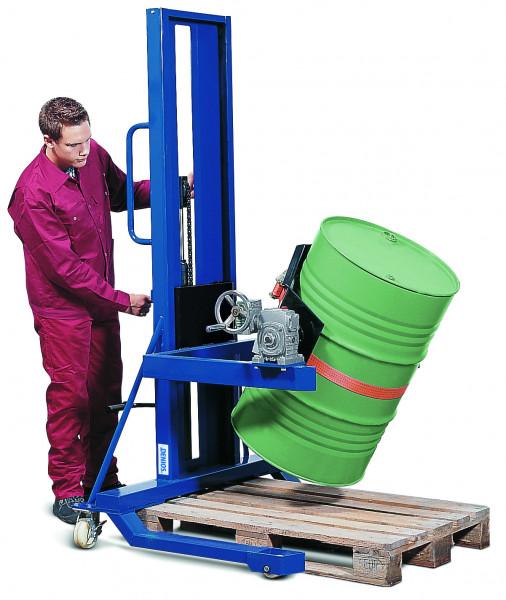 Fasslifter mit Hydraulikpumpe,Handrad, Drehbereich: 360°, 60+200 L, Stahl lackiert