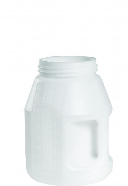 Öl-Kanne weiss aus HDPE, 5 Liter 175 x 280 mm, Polyethylen (high density)