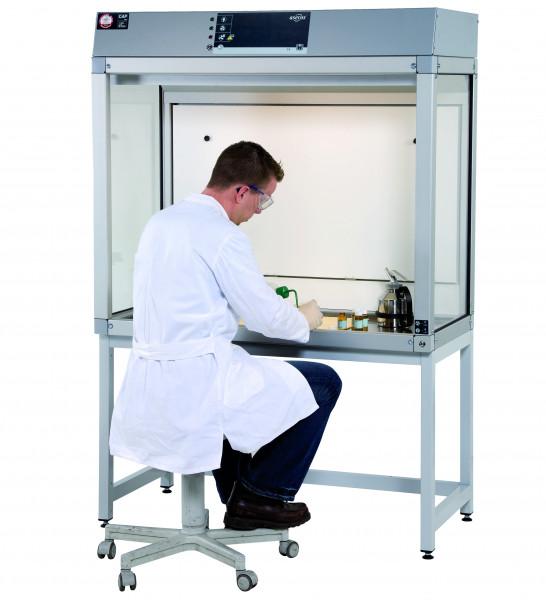 Untergestell Stahl (RAL7035/sitzend) für GAP mit Breite 1200 und Tiefe 750/850 mm, Stahl pulverbeschichtet glatt