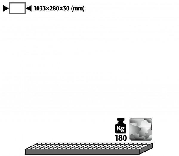 Gitterrost als Lagerebene für Modell(e): G30 mit Breite 1200 mm, Stahl verzinkt