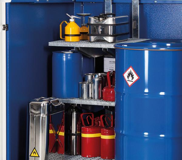 Regalstützen für Gefahrstoff-Depot Stahl 2 Fässer