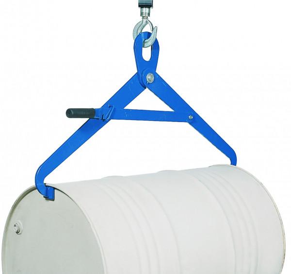 Fasszange horizontal, Traglast 350 kg, Stahl pulverbeschichtet glatt