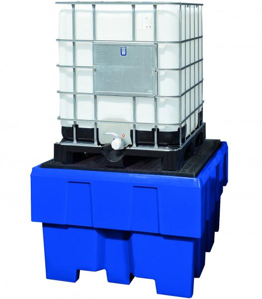 IBC-Station unterfahrbar PE mit PE-Gitterrost 1280x1660x895, Polyethylen