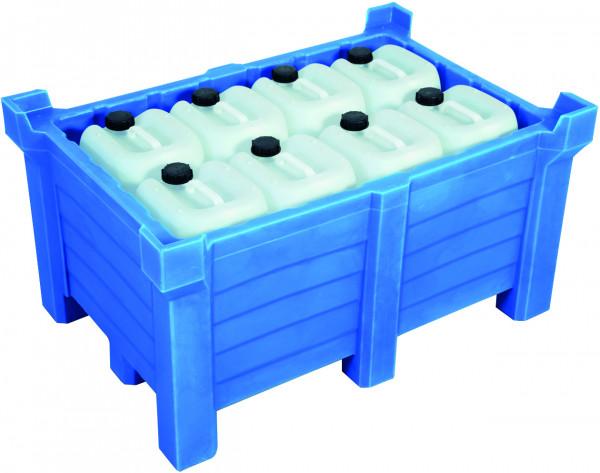 Stapelbehälter PE Blau geschlossen, 260 L, 800x600x1000, Polyethylen