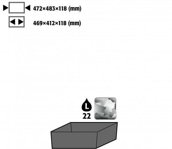 Bodenauffangwanne STAWA-R (Volumen: 22,00 Liter) für Modell(e): CS mit Breite 545 mm, Stahlblech verzinkt
