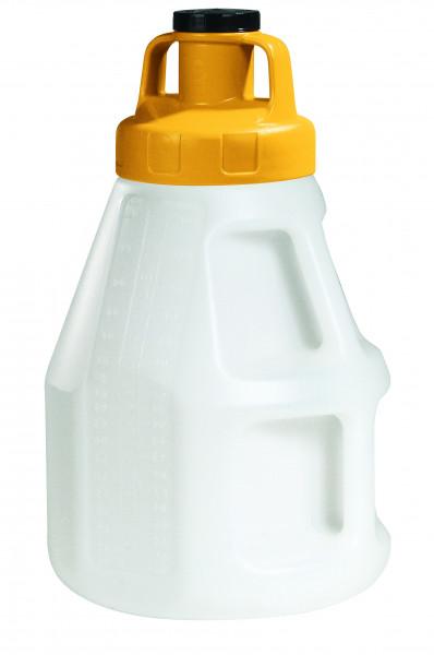 Öl-Kanne aus HDPE 10 Liter mit gelbem Allzweckdeckel, Polyethylen (high density)