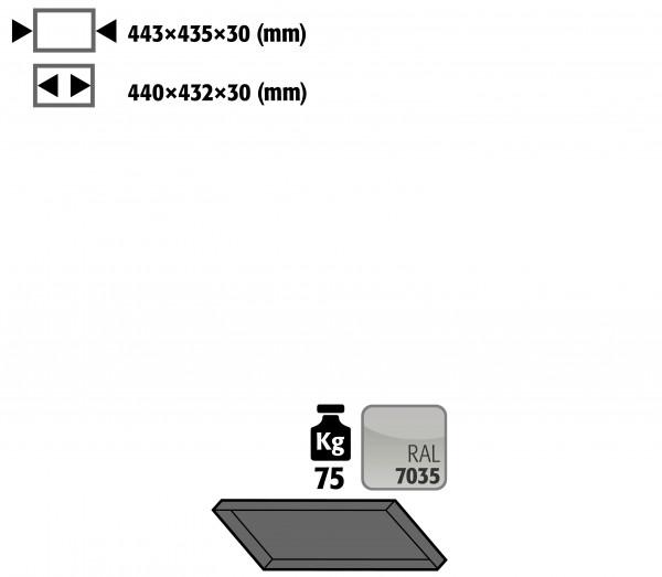 Fachboden Standard schräg für Kleinflaschenlagerung für Modell(e): G90 mit Breite 600 mm, Stahlblech pulverbeschichtet glatt