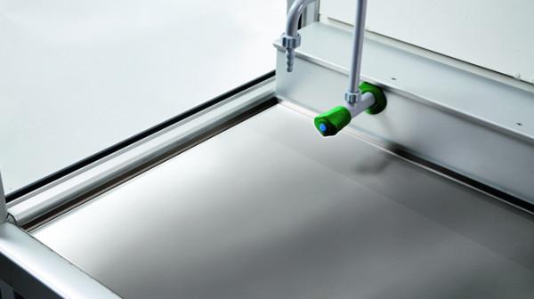 Arbeitsfläche Edelstahl für GAP mit Breite 1500 und Tiefe 600 mm, Edelstahl 1.4301 gebürstet