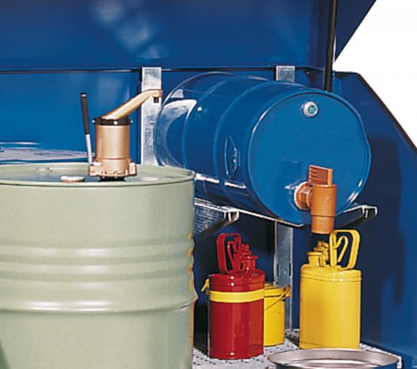 Fassauflage 60 Liter zum Auflegen auf Regaltraversen, Stahl verzinkt