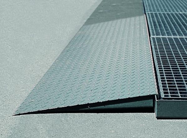 Auffahrrampe 500, Stahl verzinkt, BxT (mm) 450x1120, Stahl verzinkt