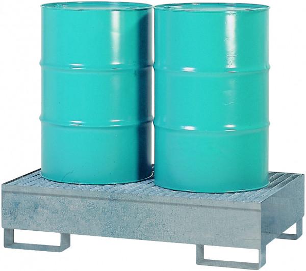 Auffangwanne Stahl mit verzinktem Gitterrost 850x1340x325, Stahl verzinkt