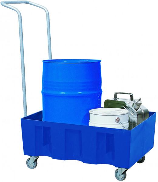Auffangwanne fahrbar PE-LD ohne Gitterrost 725x525x330, Polyethylen (low density)