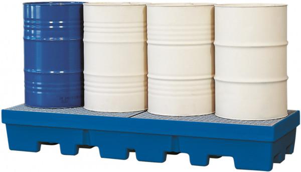 Auffangwanne PE-LD mit verzinktem Gitterrost 2460x845x350, Polyethylen (low density)