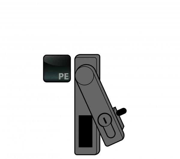 Griff Ausführung Schwenkhebel mit Profilzylinder für Modell(e): GOD mit Breite 700 mm, Polyamid roh