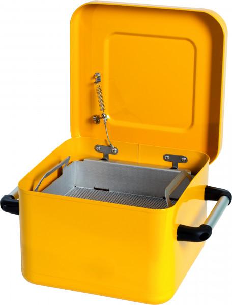 Tränk- und Spülbehälter Stahl lackiert 10 L, Stahlblech verzinkt und pulverbeschichtet