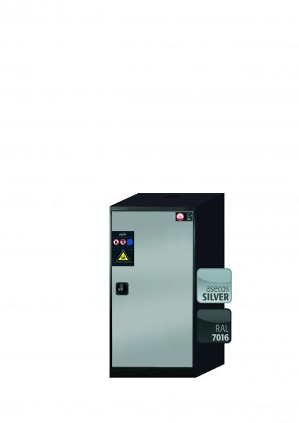 Chemikalienschrank CS-CLASSIC Modell CS.110.054.R in asecos Silber mit 3x Tablarauszug AbZ (Stahlblech/Polypropylen)