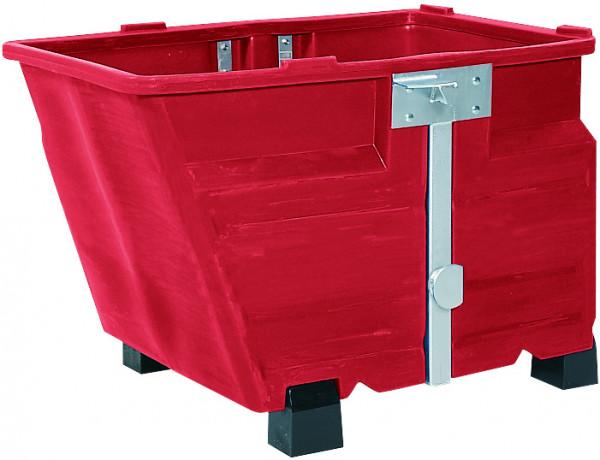 Kippbehälter PE Rot mit Füssen, 800 L, 1340x845x1160, Polyethylen