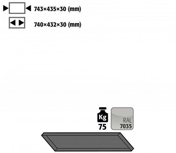 Fachboden Standard schräg für Kleinflaschenlagerung für Modell(e): G90 mit Breite 900 mm, Stahlblech pulverbeschichtet glatt