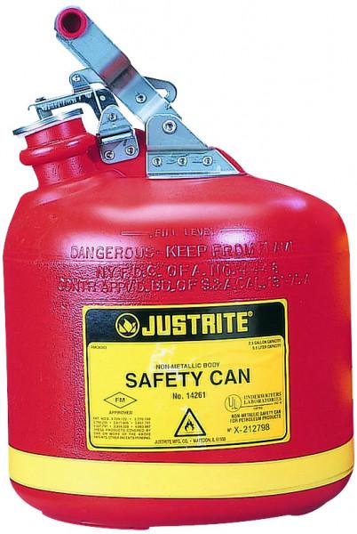 Sicherheitsbehälter Polyethylen Rot, Inhalt: 9,5 Liter, Polyethylen