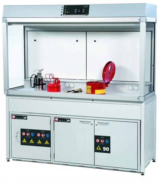 Gefahrstoffarbeitsplatz Modell GAP.095.180.060 inklusive Ausstattungspaket