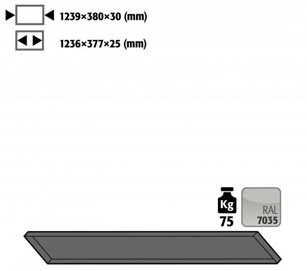 Fachboden Standard schräg für Kleinflaschenlagerung für Modell(e): G90 mit Breite 1400 mm, Stahlblech pulverbeschichtet glatt