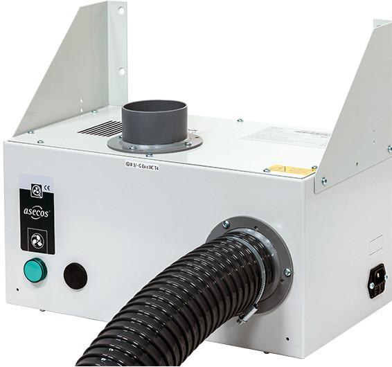 Entlüftungsmodul, ohne Abluftüberwachung Wandmontage UB-LINE, Stahlblech pulverbeschichtet glatt