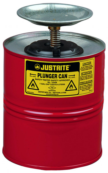 Sparanfeuchter Stahl pulverbeschichtet rot 4 Liter, Stahlblech verzinkt und pulverbeschichtet